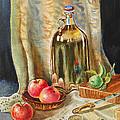 Lime And Apples Still Life by Irina Sztukowski