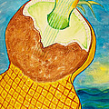 Lime Coconut Pineapple Guitar by Phoenix The Moody Artist