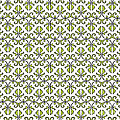 Lime Green And White Vines by Jackie Farnsworth