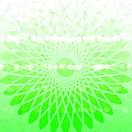 Lime Green Spirograph by Chastity Hoff