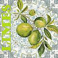 Limes On Damask by Jean Plout