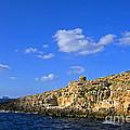 Limestone Rock, Mediterranean Sea, Malta by Tim Holt