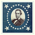 Lincoln 1860 Presidential Campaign Banner - Bust Portrait by John Stephens