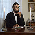 Lincoln At His Desk 2 by Ray Downing