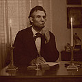 Lincoln At His Desk by Ray Downing
