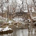 Lincoln Bridge In Winter by Iris Greenwell