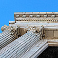Lincoln County Courthouse Columns Looking Up 01 by Sylvia Thornton