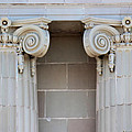 Lincoln County Courthouse Columns by Sylvia Thornton