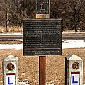 Lincoln Highway Marker by Edward Peterson