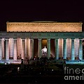 Lincoln Memorial At Night by Nick Zelinsky