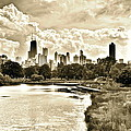 Lincoln Park View Sepia by Frozen in Time Fine Art Photography