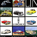 Poster Of Lincoln Cars by Jack Pumphrey