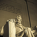 Lincoln Statue In The Lincoln Memorial by Diane Diederich
