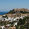 Lindos Acropolis Looking Seaward by Lorraine Devon Wilke