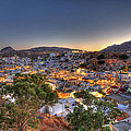 Lindos Village Ancient Skyline Rhodes Greece  by Ollie Taylor