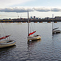 Line Of Boats On The Charles River by Toby McGuire