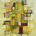 Line Series Yellow Green Red by Patricia Cleasby