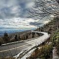 Linn Cove Viaduct During Winter Near Blowing Rock Nc by Alex Grichenko