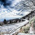 Linn Cove Viaduct Winter Scenery by Alex Grichenko