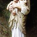 L'innocence By Bouguereau by Bouguereau