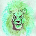 Lion Blue By Jrr by First Star Art
