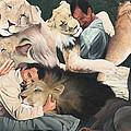 Lion Hugs by Cory Calantropio