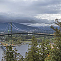 Lions Gate Bridge From Stanley Park by Jit Lim