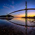 Lions Gate Bridge Reflections by Alexis Birkill