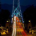 Lions Gate Bridge Traffic by Michael Russell