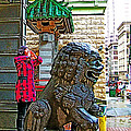 Lions Roar At Entry Gate To  Chinatown In San Francisco-california  by Ruth Hager