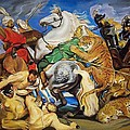 Lions Tigers And Leopard Hunt Homage To Rubens by Jude Darrien