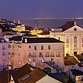 Lisbon At Night In Portugal by Artur Bogacki