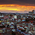 Lisbon At Sunset by Carlos Caetano