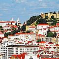 Lisbon Cityscape With Sao Jorge Castle by Luis Alvarenga