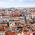 Lisbon Panoramic Skyline by Oscar Gutierrez