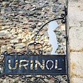 Lisbon, Portugal. Sign For Urinal by Ken Welsh