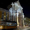 Lisbon - Portugal - Street Cars At Praca Do Comercio Or Terreiro by Carlos Alkmin