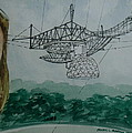 Amber Listening For Aliens At Arecibo by Frank Hunter