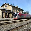 Lithuania. Silute Train Station. 2009 by Ausra Huntington nee Paulauskaite