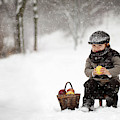 Little Apple Seller by Tatyana Tomsickova