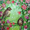 Little Birdies In Green by Ashleigh Dyan Bayer