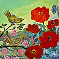 Little Birds And Poppies by Robin Maria Pedrero