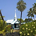 Little Blue Church Kona by Kurt Van Wagner