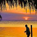 Little Boy Fishing Caye Caulker Belize by Lee Vanderwalker