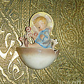 Newborn Boy In The Baptismal Font Sculpture by Eva-Maria Di Bella