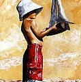 Little Boy In The Beach by Emerico Imre Toth