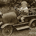 Little Boy In Toy Fire Engine Circa 1920 by California Views Archives Mr Pat Hathaway Archives