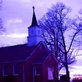 Little Church At Night by Morgan Carter