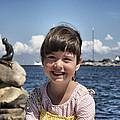 Little Girl By The Little Mermaid by Martin Llado