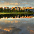 Little Molas Lake At Sunset by Alan Vance Ley